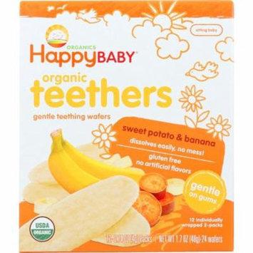 Happy Baby Teething Wafers, Gentle, Organic Teethers, Sweet Potato & Banana, 1.7 Oz (Pack Of 6)