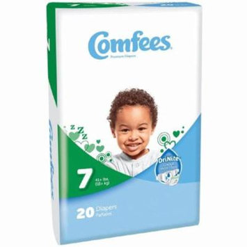 ATTENDS Baby Diaper Comfees Tab Closure Size 7 Disposable #CMF-7