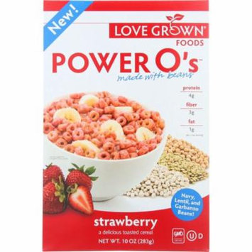 Love Grown Cereal, Power O's, Strawberry, 10 Oz (Pack Of 6)