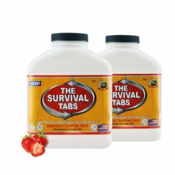 Survival Tabs 30 Day 360 Tabs Emergency Food Survival MREs Meal Replacement for Disaster Preparedness Gluten Free and Non-GMO 25 Years Shelf Life Long Term - Strawberry Flavor