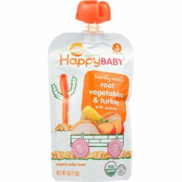 Happy Baby Baby Food, Organic, Root Vegetables & Turkey, 3 (7+ Months), 4 Oz (Pack Of 16)