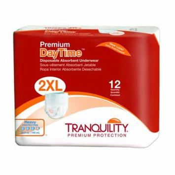 Tranquility Premium DayTime Adult Absorbent Underwear Pull On 2X-Large Disposable Heavy Absorbency Pack of 12