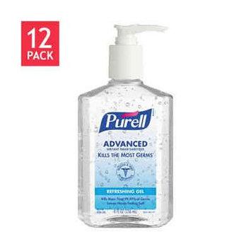 Purell Instant Hand Sanitizer Pump Bottle 8oz 12ct GOJ 965212CT