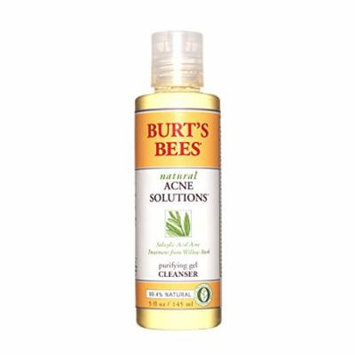 2 Pack - Burt's Bees Natural Acne Solutions Purifying Gel Cleanser 5oz Each