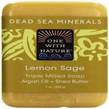 One With Nature, Dead Sea Mineral Bar Soap, Lemon Verbena, 7 oz