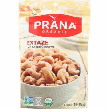 Prana Sea Salted Cashews Extaze, 4 Oz (Pack Of 8)