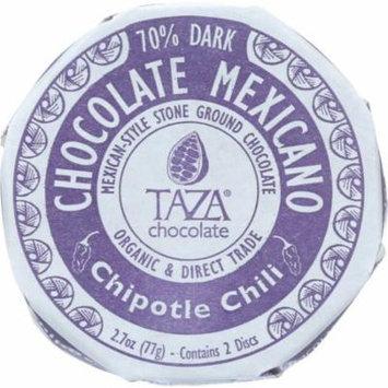 Taza Chocolate Chipotle Chili Chocolate Mexicano, 2.7 Oz (Pack Of 12)