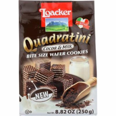 Loaker Quadratini Cocoa & Milk Wafer Cookies, 8.82 Oz (Pack Of 8)
