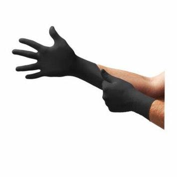 Micro Flex MFX-BD1005NPF Black Dragon Zero Powder-free Nitrile Examination Gloves, Black, 2xl
