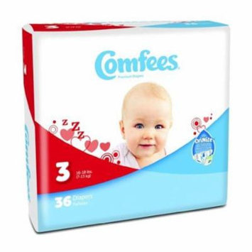 ATTENDS Baby Diaper Comfees Tab Closure Size 3 Disposable #CMF-3