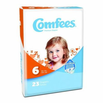 ATTENDS Baby Diaper Comfees Tab Closure Size 6 Disposable #CMF-6