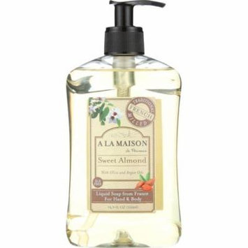 A La Maison Liquid Soap, For Hand & Body, Sweet Almond, 16.9 Oz