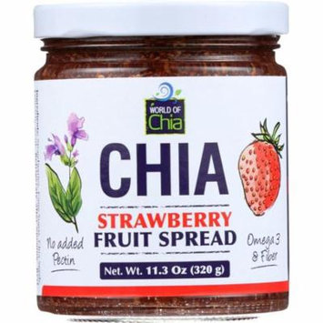 World Of Chia Spread Chia Strawberry, 11.3 Oz (Pack Of 6)