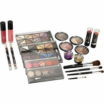 VER Beauty VMK1302 - 24pcs Makeup Gift Set with See-Through Panel Case and 2 Extendable Trays