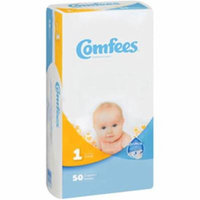 Comfees CMF-1 Disposable Baby Diapers, Size 1 - 200 per Case