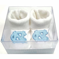North Carolina Tar Heels Boxed Newborn Baby Booties