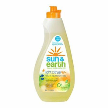Sun and Earth Xtra Concentrated Dishwashing Liquid,Light Citrus Scent 22 Ounce (Packaging May Vary)