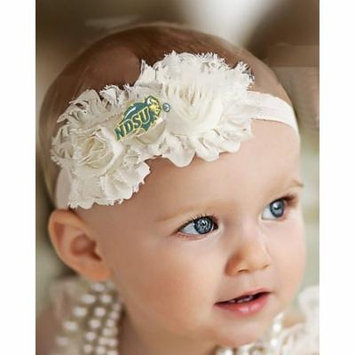 North Dakota State Bison Baby/ Toddler Shabby Flower Hair Bow Headband