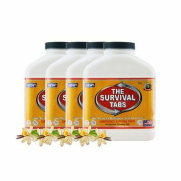 Survival Tabs 60 Day 720 Tabs Emergency Food Survival MREs Meal Replacement for Disaster Preparedness Gluten Free and Non-GMO 25 Years Shelf Life Long Term - Vanilla Flavor