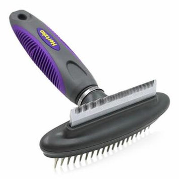 2 in 1 Pet Comb and Deshedding Tool with Flexible Neck by Hertzko