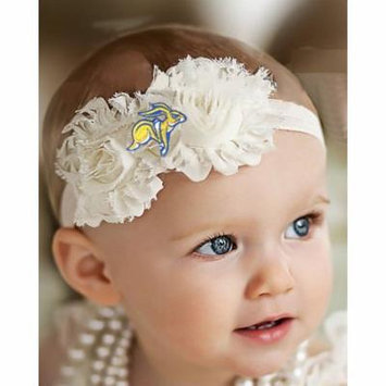 South Dakota State Jackrabbits Baby/ Toddler Shabby Flower Hair Bow Headband