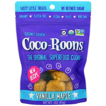 Sejoyia Foods, Coco-Roons, Chewy Cookie Bites, Vanilla Maple, 3 oz (85 g) [Flavor : Vanilla Maple]