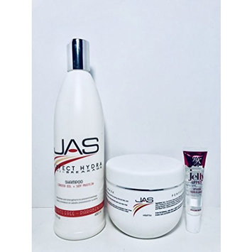 JAS Perfect Hydra Anti-breakage Shampoo and Conditioner 16 Oz With Linseed Oil + Soy Protein