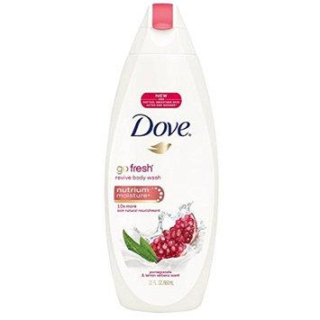 Dove go fresh Revive Body Wash with NutriumMoisture, Pomegranate & Lemon Verbena 22 oz (12 Pack)