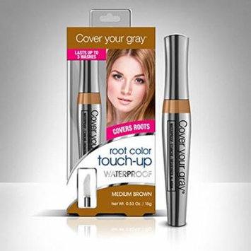 Cover Your Gray Waterproof Root Color Touch-Up - Medium Brown (Pack of 4)