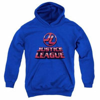 Trevco Jla-8 Bit Jla Youth Pull-Over Hoodie, Royal Blue - Small