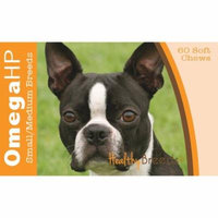 Healthy Breeds Boston Terrier Omega HP Fatty Acid Skin and Coat Support Soft Chews