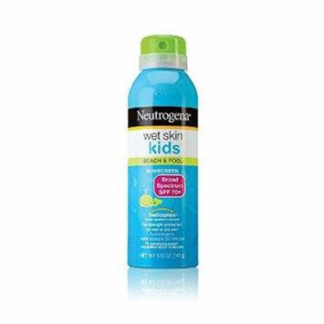5 Pack - Neutrogena Wet Skin Kids Beach Pool Sunscreen Spray SPF 70+ 5oz Each