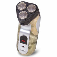 Camouflage Rechargeable Electric Shaver Hair Removal With 3 Pivoting Heads