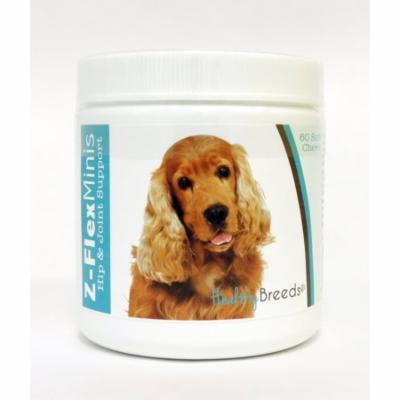 Healthy Breeds Cocker Spaniel Z-Flex Minis Hip & Joint, Mobility, Stiff and Sore Support Soft Chews 60 Count