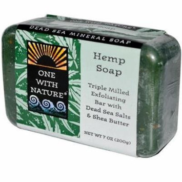 ONE WITH NATURE DEAD SEA BAR SOAP,HMP PEP, 7 OZ