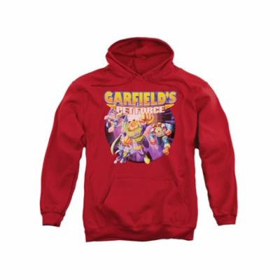 Garfield Comic Pet Force Four Adult Pull-Over Hoodie