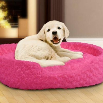 PETMAKER Small Cuddle Round Plush Pet Bed