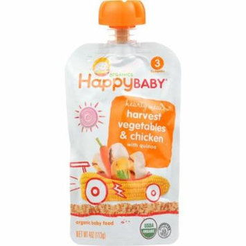 Happy Baby Baby Food, Organic, Harvest Vegetables & Chicken, 3 (7+ Months), 4 Oz (Pack Of 16)