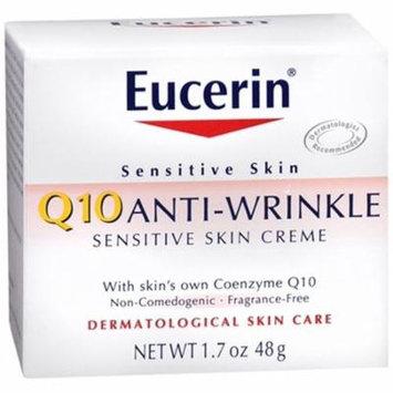6 Pack - Eucerin Q10 Anti-Wrinkle Sensitive Skin Creme 1.70oz Each