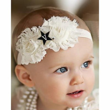 Vanderbilt Commodores Baby/ Toddler Shabby Flower Hair Bow Headband