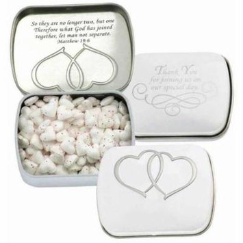 Candy-Scripture Mints Wedding Tin-Cinnamon Heart Shaped (Pack of 9)