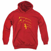 Trevco Dc-Flash Min - Youth Pull-Over Hoodie - Red, Small