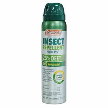 4 Pack Coleman Unscented Ultra Dry Aerosol Insect Repellent 25% DEET #7514 4 OZ