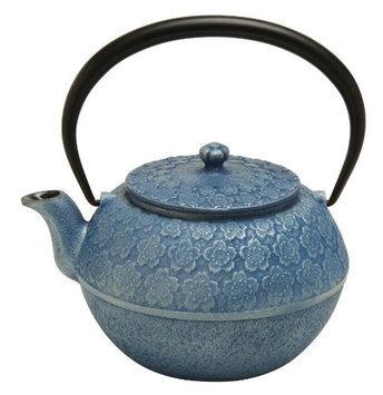 Joyce Chen Cherry Blossom Tetsubin Teapot, Silver Blue