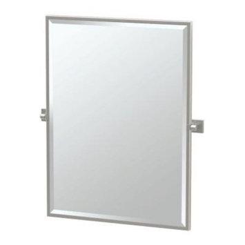 Gatco Elevate 28 in. x 33 in. Framed Single Large Rectangle Mirror in Satin Nickel