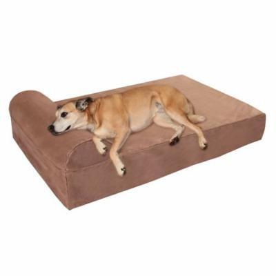 Big Barker Pillow Top Orthopedic Dog Bed w/ Headrest, Large, Khaki