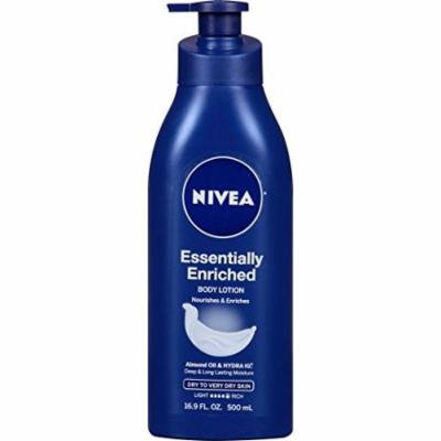 4 Pack NIVEA Essentially Enriched Body Lotion 16.9 Ounce Each