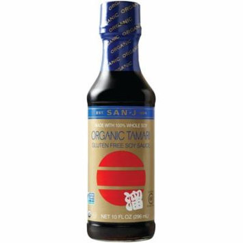 San J Sauce Tamari Soy Sauce Organic Wheat Free, 10 OZ (Pack of 6)