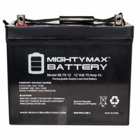 ML75-12 12V 75Ah Battery for Teftec Wheelchair T1200F series, AT264F1