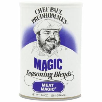 4 PACKS : Chef Paul Meat Magic Seasoning, 24-Ounce Canisters